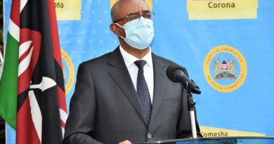 307 Coronavirus cases in Kenya today now 6673-Health CAS Rashid Aman