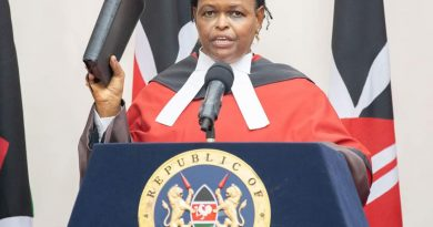 Justice Martha Karambu Koome sworn in as the new Chief Justice and President of the Supreme Court of Kenya